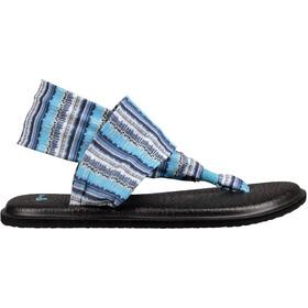 Sanük Yoga Sling 2 Prints Sandalias Mujer, blue topaz island stripe